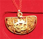 Picture of Ek Mukhi Rudraksha with Gold Pendent &amp; Red Thread