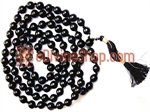 Picture of Black Onyx Mala For Improving Concentration , Devotion and Ending Marital Disputes