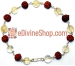 Picture of Rudraksha Citrine Combination Bracelet in Silver