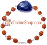 Picture of Rudraksha Blue Onyx Combination Bracelet in Silver