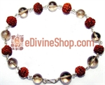 Picture of Rudraksha Smokey Quartz Combination Bracelet in Silver