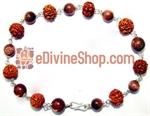 Picture of Rudraksha Sunstone Combination Bracelet in Silver