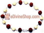 Picture of Rudraksha Tulsi Combination Bracelet in Silver