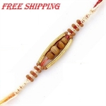 Picture of Handcrafted Rakhi with Sandalwood beads