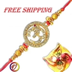 Picture of Gold Plated- Om Rakhi