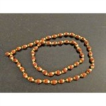 Picture of Yoga Gift- Full Rudraksha with Golden Caps Mala Yoga Meditation Shiva Mala (54+1) Beads