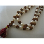 Picture of Rudraksha Rudraksh Pearl Moti Japa Mala Rosary 108 +1 Bead Yoga Hindu Meditation Raiki Pooja Puja Rare