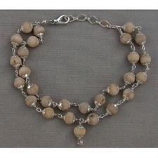 Picture of Tulsi Wrist Mala: 27 Beads with Silver Kamala Caps and Clasp