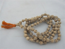 Picture of White Tulsi Beads Hari Om Yoga Meditation Rosary Prayer Mala Japamala (108+1) Beads - Cures From High Fever and Diseases of Mind.