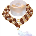 Picture of Quartz - Rudraksha Mala 