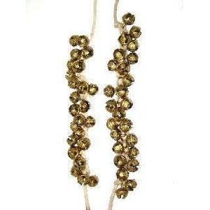 Picture of Ankle Bells on string, Kathak Ghungroo pair, 25 brass bells on each string