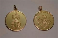 Picture of Shri Kuber Ji Pendant with Yantra for WEALTH