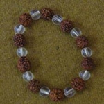 Picture of 5 MUKHI RUDRAKSH AND CRYSTAL BRACELET TO REGULATE BLOOD PRESSURE AND BODY FAT