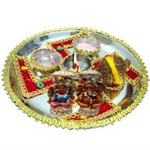 Picture of Deepmaala Pooja Thali With 21 Eseential Pooja Items Navratri special