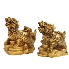 Picture of  TURTLE DRAGON PAIR WITH COINS