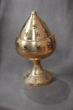 Picture of Decorative Brass diya oil lamp burner for puja aarti