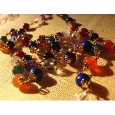 Picture of Navaratna Necklace with Semi-Preicous Beads