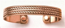 Picture of Links and Twists - Copper Bracelet With Magnets