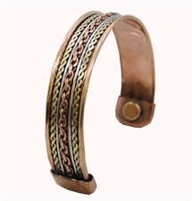 Picture of Powerful Magnetic Copper Cuff Bracelet for Arthritis and Golf Sport Aches and Pains
