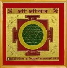 Picture of Sri Yantra-gold Plated for Meditation, Good Luck and Prosperity