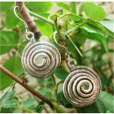Picture of Ethnic Round Metal Earring ER07