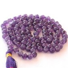Picture of Amethyst Mala For Peace and Getting Rid of Stress and Tension