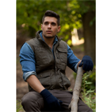 Picture of Mens Sleeveless Jacket Cargo Style