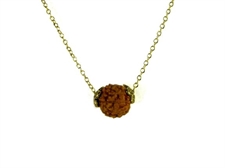 Picture of Rudraksha Seed / Shiva Tears Gold Tone Choker Necklace