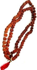 Picture of Pure Rudraksha 108 Beads Religious Rosary (Japa Mala) Beads Size 8mm