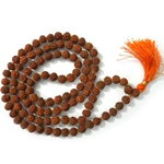 Picture of 108 Rudraksha Mala Beads Meditation (Rosary)10mm