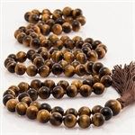 Picture of 108 Tiger Eye Beads Meditation Japa Mala (Rosary)