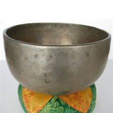 """Picture of Hither And Yon Tibetan Singing Bowl Hand-Hammered 7.75"""" Heart Chakra, F Note, Excellent Sustain"""