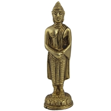 Picture of Buddha Religious Statue Collectible Figurines In Brass Size: 2.54 x 8.89 x 2.54 Cm.