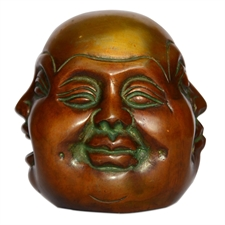 Picture of Four Faced Buddha Head Handmade Brass Statues