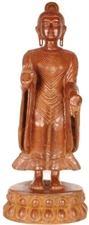 Picture of Buddha, The Universal Teacher - Antiquated Brass Statue