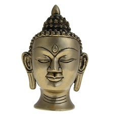 Picture of Buddha Head Religious Sculptures Gifts And Collectibles Brass 15.24 X 10.16 Cm