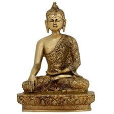 Picture of Brass Sculptures And Figurines Buddha Ornaments Metal Buddhist Statues 21.59 cm