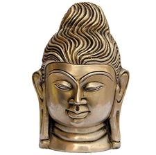 Picture of Buddha Head Brass Statue Collectible Figurines 12.70 X 7.62 Cm