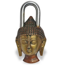 Picture of Buddha Brass Lock and Key