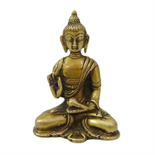Picture of Gold Brass Metal Figure Lord Buddha Religious Home Decor Sculpture India Art Gift