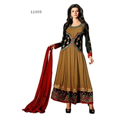 Picture of Bollywood Actress Sushmita Sen Black Anarkali Suit Sus11005