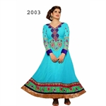 Picture of Bollywood Actress Zarine khan sky Anarkali Salwar Suits Zar2003